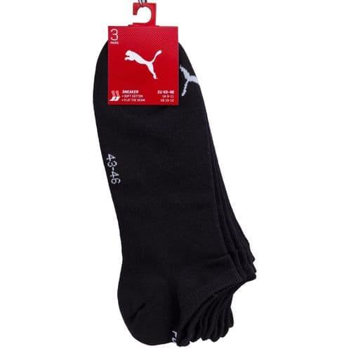 Puma Sneaker Socks Puma 3Pr Socks Black